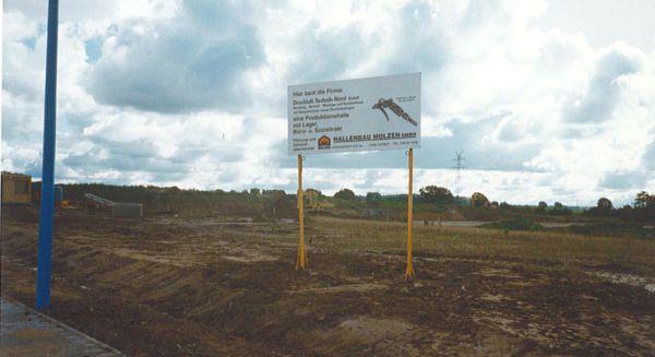 Baustellenschild Druckluft-Technik-Nord 1993