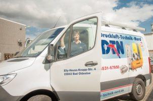 Mit unseren Service-Fahrzeugen sind wir 24 Stunden im Einsatz für Sie - DTN